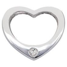 Diamond Pendants, Sets - Ag Real Diamond Heart Pendant AGSP0004