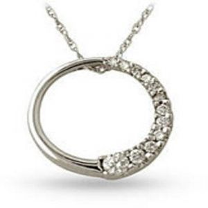 Ag Real Diamond Circular Fancy Shape Pendant