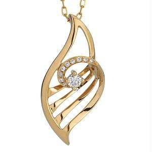 Ag Real Diamond 10 Stones Fashion Pendant Agsp0113