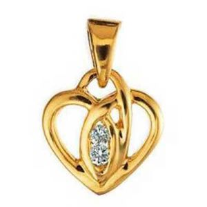 Fancy Heart Shape Diamond Pendant Agsp0127
