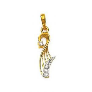 Platinum,Unimod,Ag,Mahi Fashions Women's Clothing - SUPERB FANCY LOOK DIAMOND PENDANT AGSP0129