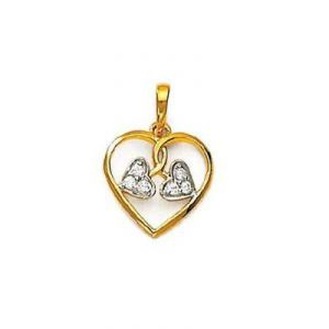 Three Fancy Heart Shape Diamond Pendant Agsp0136