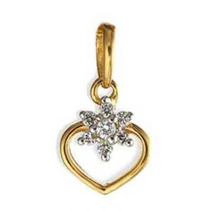 With Heart Shape Diamond Pendant Agsp0141