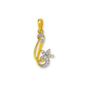 Fancy Rebbon Shape Leave Diamond Pendant Agsp0155