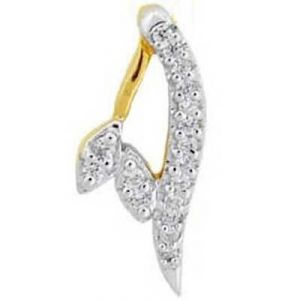 Fancy A Shape Diamond Pendant Agsp0156