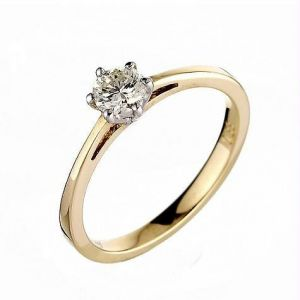 Ag Real Diamond Solitaire Diamond Fancy Ring