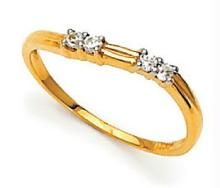 Ag Real Diamond In Line Traditional Ring Agsr0008