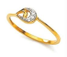 Ag Real Diamond Stone Traditional Ring Agsr0016