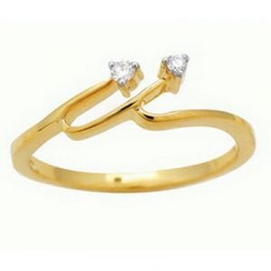 Ag Real Diamond Stone Fashion Shape Ring Agsr005