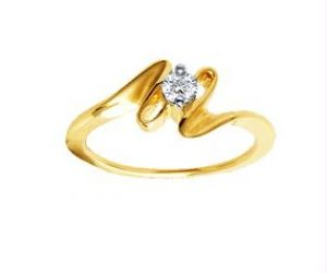 Ag Real Diamond Stone Classic Solitaire Diamond