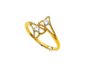 Ag Real Diamond Fancy Flower Shape Ring Agsr0074