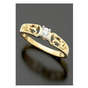 Ag Real Diamond Traditional Shape Ring
