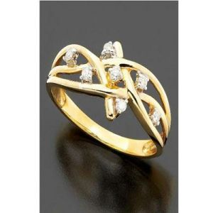Ag Real Diamond Traditional Shape Ring Agsr0079