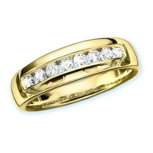 Ag Real Diamond Band Ring Agsr0081