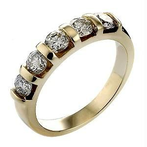 Ag Real Diamond Band Ring Agsr0082
