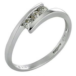 Ag Real Diamond Fancy Slim Ladies Ring