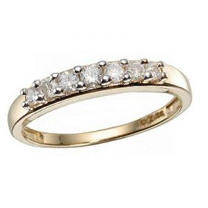 Ag Real Diamond Queen Band Fancy Ring