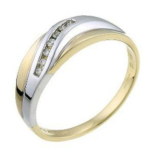 Ag Real Diamond Fancy Band Ring Agsr0095