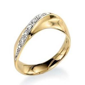 Ag Real Diamond Seven Stones Fancy Band Shape Ring