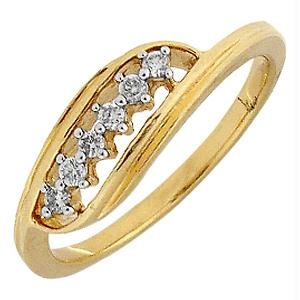 Ag Real Diamond Six Stones Fashion Ring Agsr0125