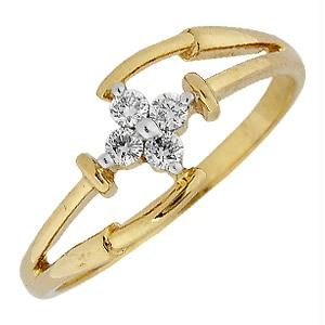 Ag Real Diamond Four Stones Fashion Ring Agsr0126