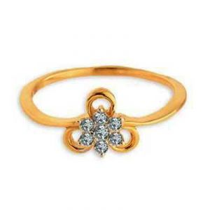 Flower With Ribbon Diamond Ring Agsr0159