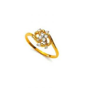 Fancy Swirl Flower Shape Diamond Ring Agsr0162