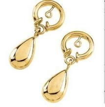 rcpc,ivy,avsar,soie,bikaw,ag,hoop,see more Gold Earrings - AU 18k Pure Yellow Gold Drop Circle Earring AUE004