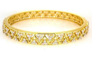 Avsar Real Gold And Diamond Bangles - Avb051