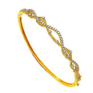 Avsar Real Gold And Diamond Splendid Bangles Avb57