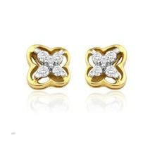 Kiara,Port,Surat Tex,Tng,Avsar,Platinum,Oviya,Triveni,Asmi,Soie Gold Jewellery - AU 18k Pure Yellow Gold Fish Earring AUE007
