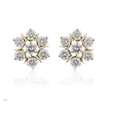 Avsar Real Gold And Diamond Earring Ave009