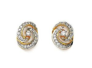 Avsar Real Gold And Diamond Beautiful Earring