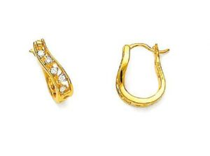 Avsar Real Gold And Diamond Perfect Fancy Earring
