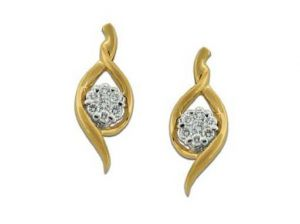 Avsar Real Gold And Diamond Traditional Shape Ear