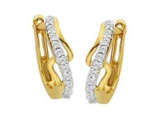 Avsar Real Gold And Diamond Stunning Fancy Earring