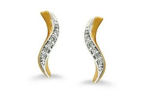 Avsar Real Gold And Diamond Fancy Snake Earrings