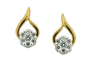 Avsar Real Gold And Diamond Lovely Fancy Earrings