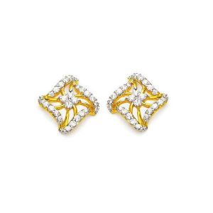 Avsar Real Gold Diamond Beautiful Earring Ave0164