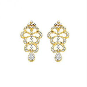 Avsar Real Gold Diamond Pleasing Earring Ave0173