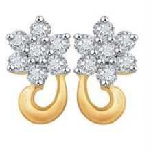 Avsar Real Gold And Diamond Earrings Ave022