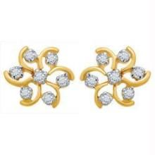 Avsar Real Gold & Diamond Nakshatra Fancy Earring
