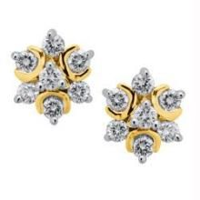 Lime,Surat Tex,Soie,Avsar,Unimod,Asmi Diamond Jewellery - Avsar Real Gold Diamond Traditional Fancy Earring