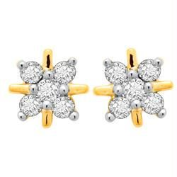 Avsar Real Gold And Diamond Fashion Earring Ave033