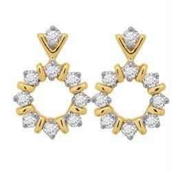 avsar,ag,lime,kalazone,shonaya,Sangini,Asmi Diamond Earrings - Avsar Real Gold and Diamond Traditional Earring