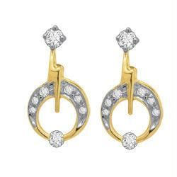 Avsar Real Gold And Diamond Fancy Earring Ave037