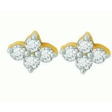 Avsar Real Gold And Diamond Stone Earring Ave043