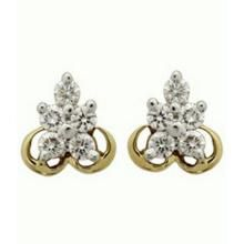 Avsar Real Gold And Diamond Stone Earring Ave045