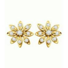 Avsar Real God And Diamond Flower Earring Ave047