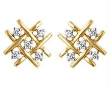 Avsar Real Gold And Diamond Jali Earrings Ave048